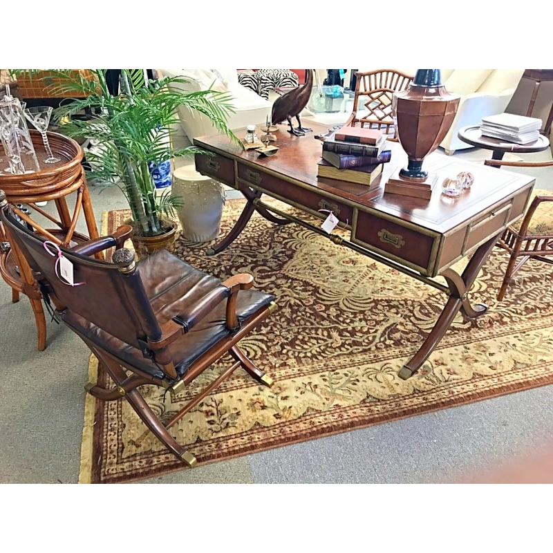 Thomasville Desk And Chair Ernest Hemingway Collection