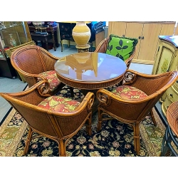 Glasstop Table & Chairs