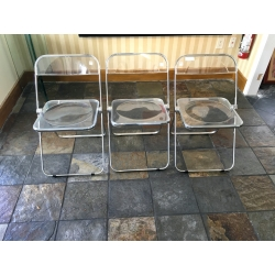 3 Acrylic Chairs