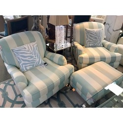 SOLD Teal/White Chairs w/...