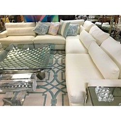 SOLD Large White Sectional