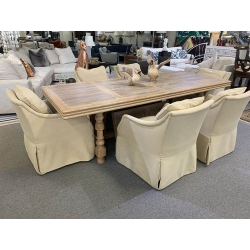 DINING TABLE AND ROLLING...