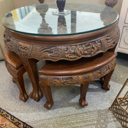 SMALL ORNATE TABLE WITH...