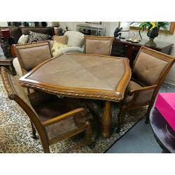 SOLD Leather Table & Chairs
